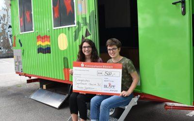 Mobiler Jugendraum des EJB wird mit 500€ aus dem BLAPF- Fonds unterstützt!