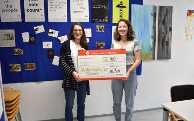 Kleidertauschbörse wurde mit 160€ aus dem BLAPF- Fonds unterstützt!