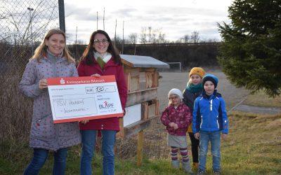 130€ aus dem BLAPF- Fonds für den TSV Hochdorf für ein Insektenhotel