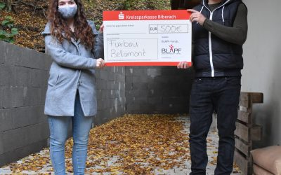 Fuxbau Bellamont erhält 500€ aus dem Blapf- Fonds